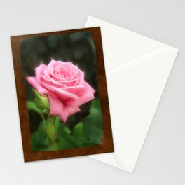 Pink Roses in Anzures 3 Blank P3F0 Stationery Cards