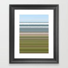Sky Water Beach Grass Framed Art Print
