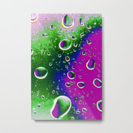 Waterdrop Abstract Metal Print