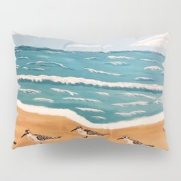Sand Pipers on the Beach Pillow Sham