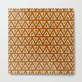 Alchemical Triangles > Clay Metal Print