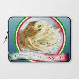 Food. Rolled spaghetti. Italian taste. Laptop Sleeve
