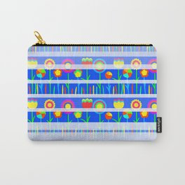 Floral spring party in blue Carry-All Pouch