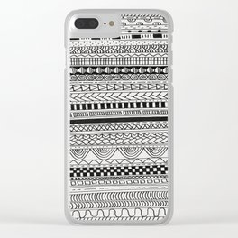 Pattern Line Abstract Clear iPhone Case