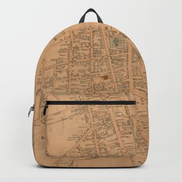 Vintage Map of Concord NH (1851) Backpack