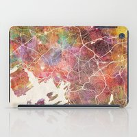 oslo iPad Cases featuring Oslo by MapMapMaps.Watercolors