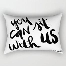 You Can Sit With Us - Bedlam Magazine Rectangular Pillow