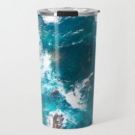 Surf Photography, Beach Wall Art Print, Ocean Water Surfing, Coastal Decor, Digital Download, Bathro Travel Mug