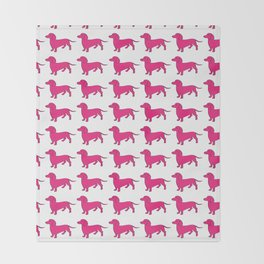Doxie Love - Pink Throw Blanket