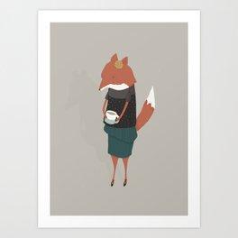 Audrey Enjoys Her Cup of Tea Art Print