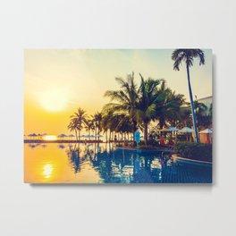 Hawaii Sunset Metal Print