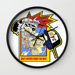 Only Lovers Finds The Way  -  NYC map Wall Clock