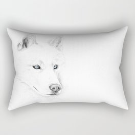 Saber :: A Siberian Husky Rectangular Pillow