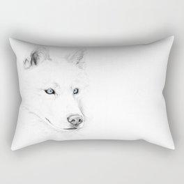 Saber :: A Siberian Husky Rectangular Pillow