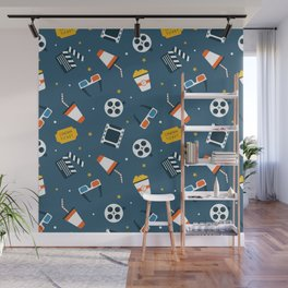 Movie Night Whimsical Pattern Wall Mural
