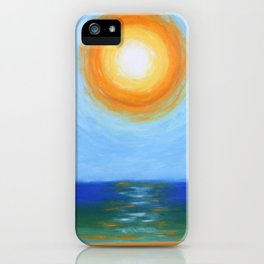Haitian Sunrise coastal landscape painting by Joseph Stella iPhone Case