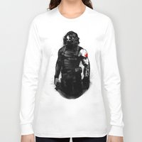 bucky barnes Long Sleeve T-shirts featuring Who the hell is Bucky? by charlotvanh