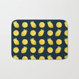 Watercolor Lemon Pattern Bath Mat