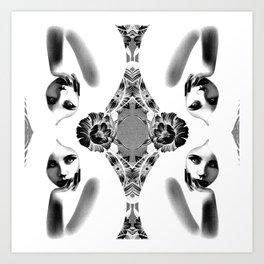 White Witches Art Print