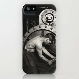 Industrial Art  - Lewis Hine - Power House Mechanic, 1920 iPhone Case