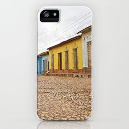 Streets of Trinidad Cuba Cobblestone Stucco Old City Colorful Latin America Caribbean Island Tropica iPhone Case