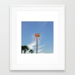 Pizza Anytime Framed Art Print