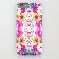 Chic Neon Pink Yellow Floral Fashion Hip Pattern Slim Case iPhone 6