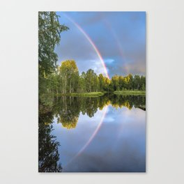Rainbows: The gift from heaven to us all Canvas Print