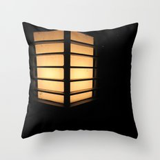 Asian Lamp in the night Throw Pillow