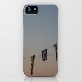 Flags and sunset Leith Edinburgh iPhone Case