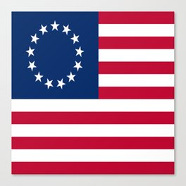 Historical flag of the USA: Betsy ross Canvas Print