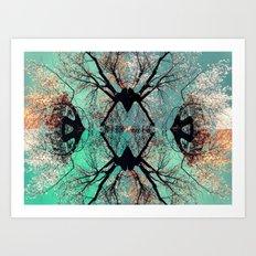 autumn tree-vessel pattern Art Print