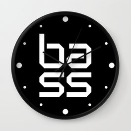 Bass Block Music Quote Wall Clock