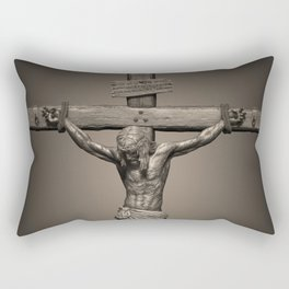 Jesus Crucifixion - For All of Us Rectangular Pillow