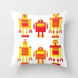 robot color Throw Pillow