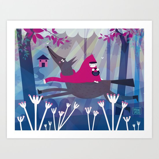 Red red ride Art Print