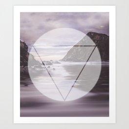 Calm Waters sacred geometry circle triangle Art Print