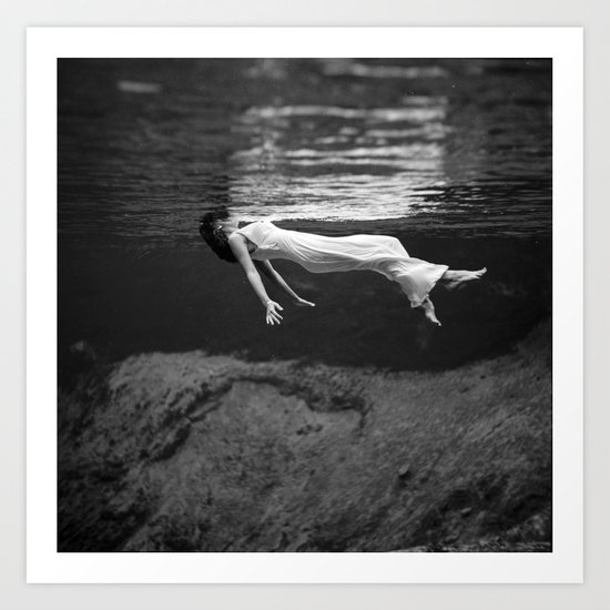 Black and white fashion print vintage underwater art print by fineearthprints society6