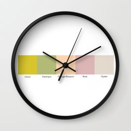 Historic Ice Cream Flavors 1 Wall Clock