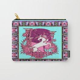 Unicorn & Thistle, Butterflies Blue-Purple  Moon Nouveau Design Carry-All Pouch