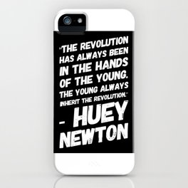 The Revolution of The Young - Huey Newton iPhone Case