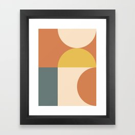 Abstract Geometric 04 Framed Art Print