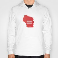 wisconsin Hoodies featuring Wisconsin Love by Tank Top Sunday
