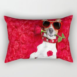 Valentine's Day Dog Rectangular Pillow