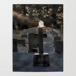 Gravestones and statue Poster
