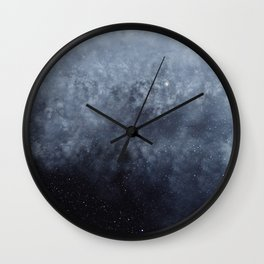 Blue veiled moon Wall Clock