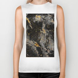 Galaxy (black gold) Biker Tank