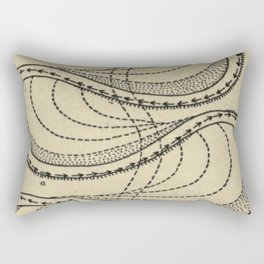 River Formation Diagram Rectangular Pillow