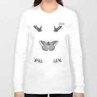 tattoos Long Sleeve T-shirts featuring Harry Styles Chest Tattoos by Liz Swezey