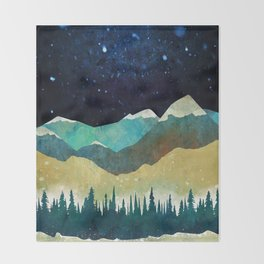 Snowy Night Throw Blanket